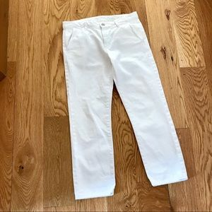 AG-ED SUPPLY EX-BOYFRIEND WHITE CROP CAPRIS